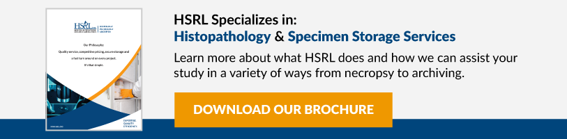 HSRL Specializes in Histopathology & Specimen Storage Services